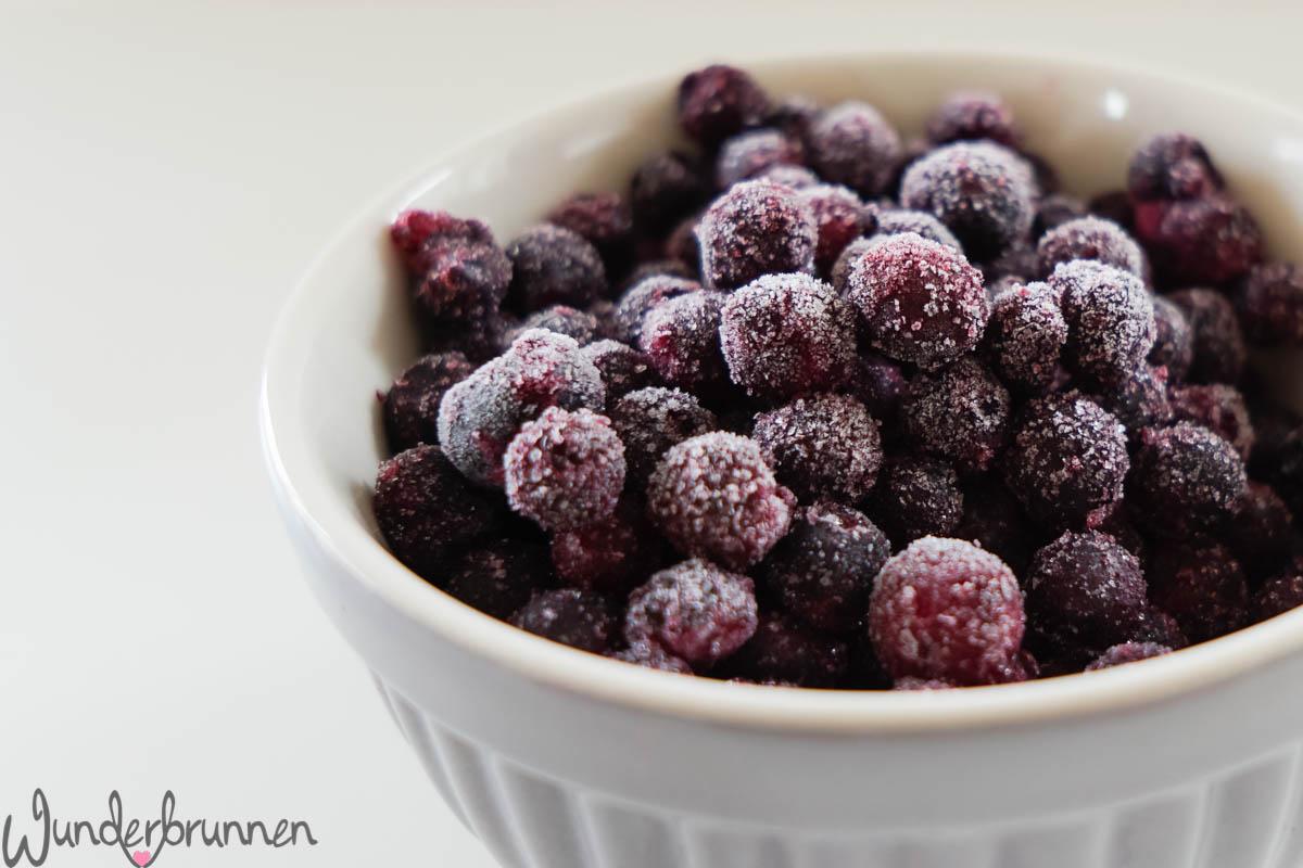 Frozen Blueberries - Wunderbrunnen - Foodblog - Fotografie