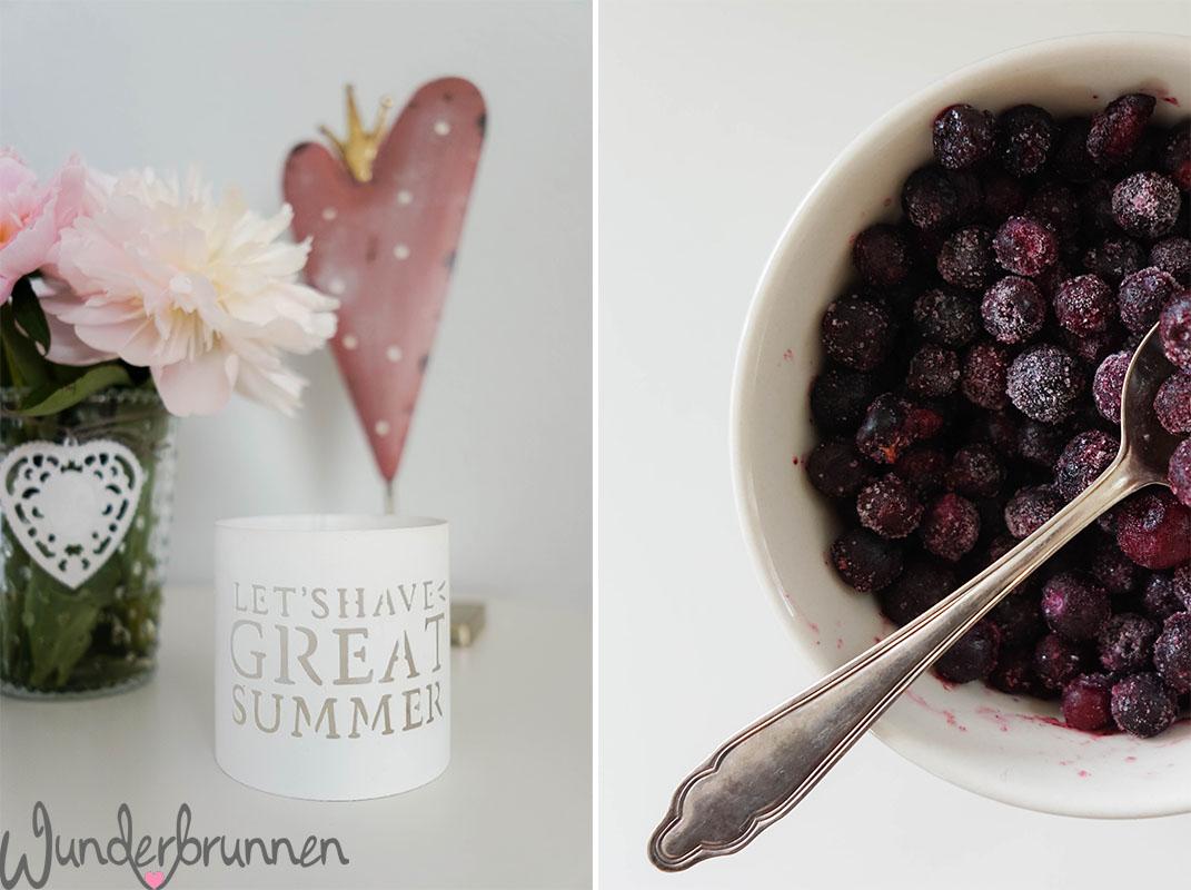Frozen Blueberries - Pfingstrose - Wunderbrunnen - Foodblog - Fotografie