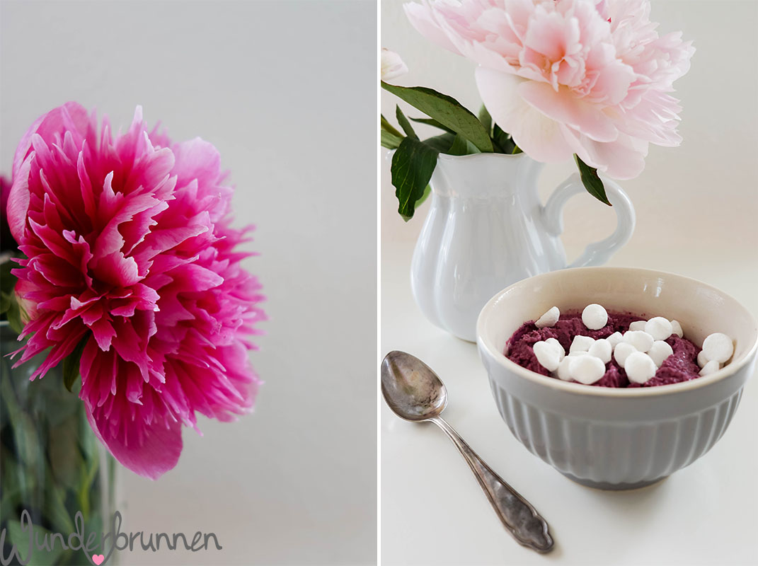 Frozen Yogurt - Pfingstrosen - Wunderbrunnen - Foodblog - Fotografie