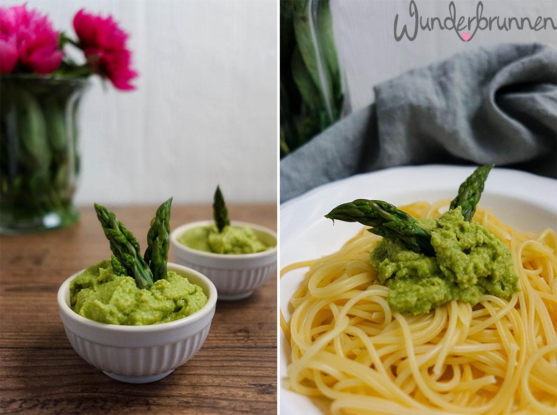 Collage Spargelpesto - Wunderbrunnen - Foodblog - Fotografie