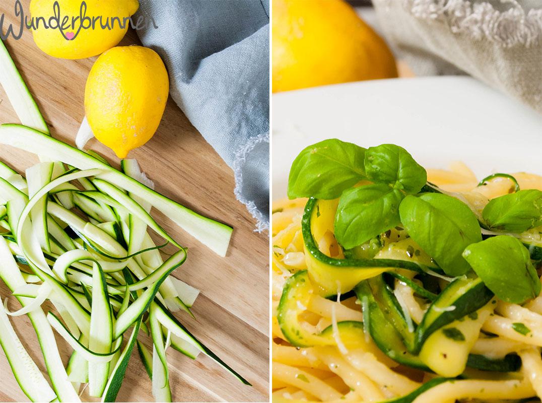 Zucchini-Nudeln - Wunderbrunnen - Foodblog - Fotografie