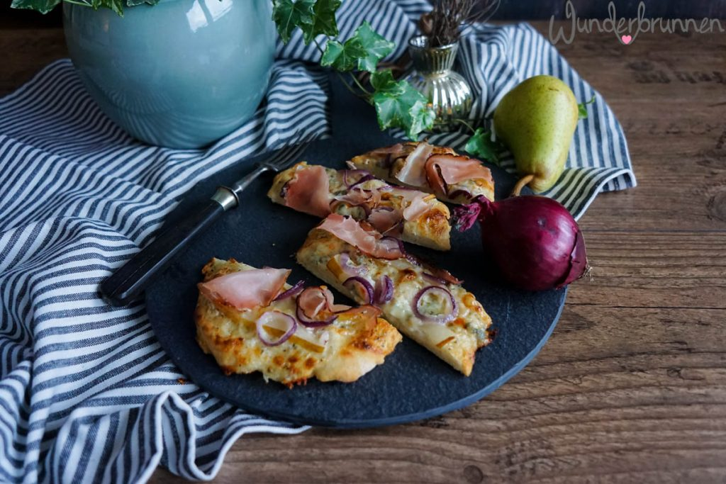 Birnen-Pizza - Wunderbrunnen - Foodblog - Fotografie