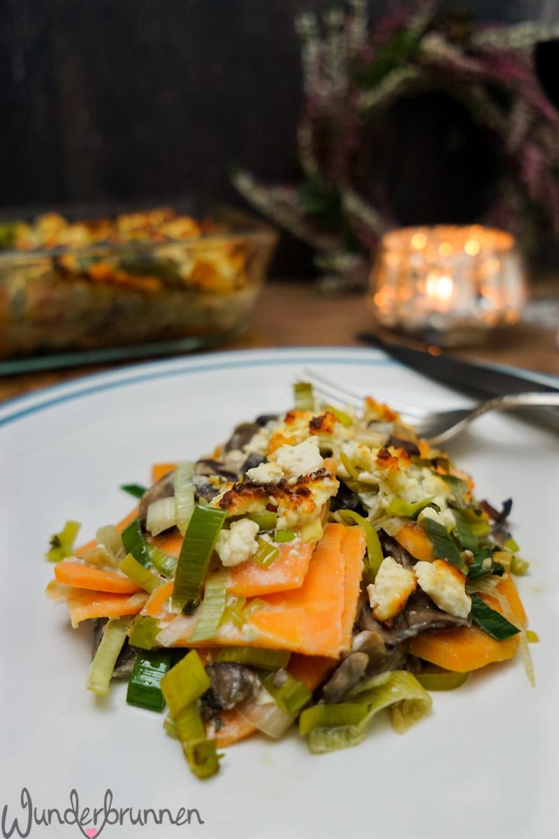 Buch-Tipp und Süßkartoffelauflauf - Wunderbrunnen - Foodblog - Fotografie