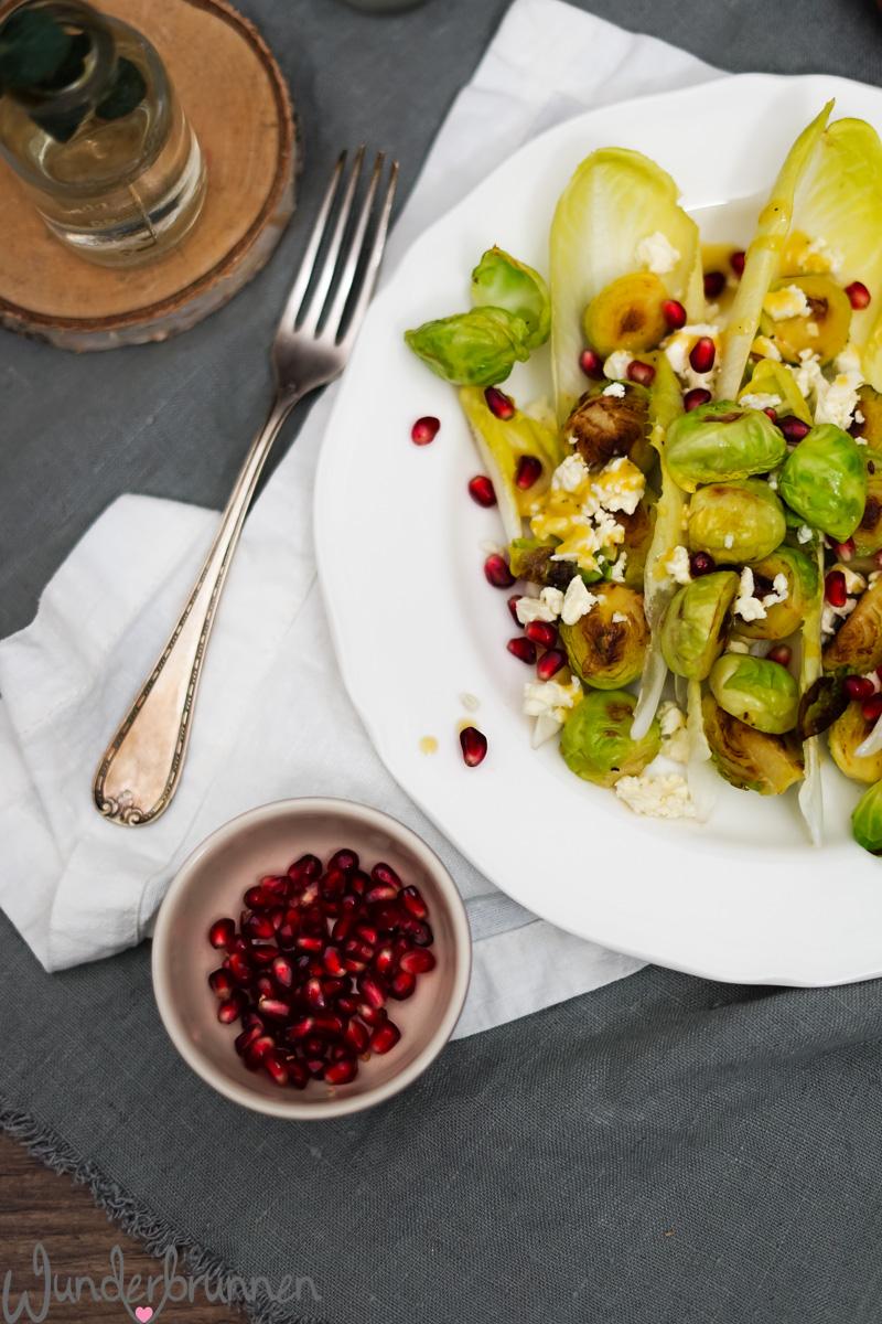 Winterlicher Salat mit Chicorée und Rosenkohl - Wunderbrunnen - Foodblog - Fotografie