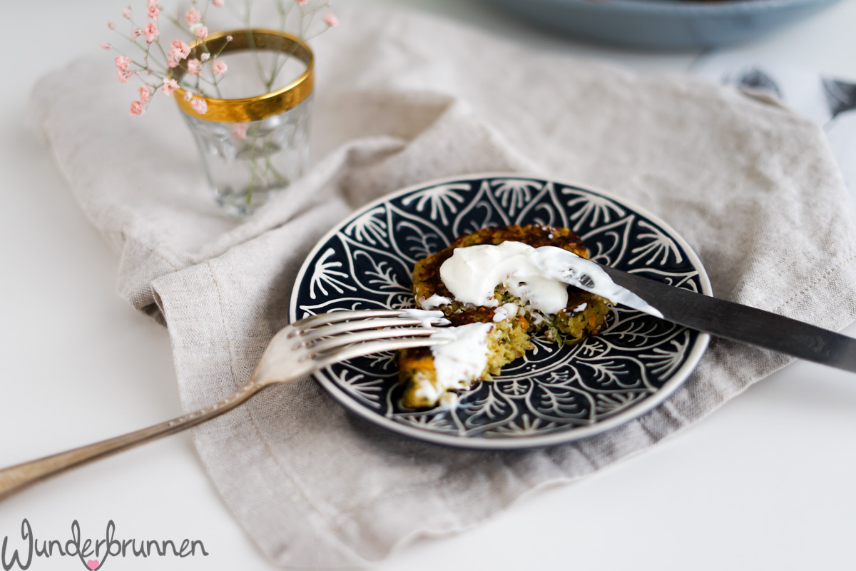 Hafer-Gemüse-Bratlinge - Wunderbrunnen - Foodblog - Fotografie