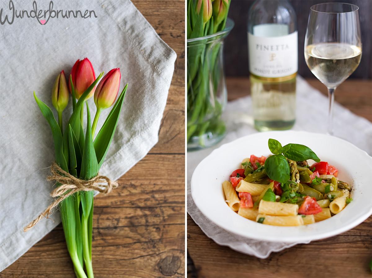 Tortiglioni mit grünem Spargel - Wunderbrunnen - Foodblog - Fotografie