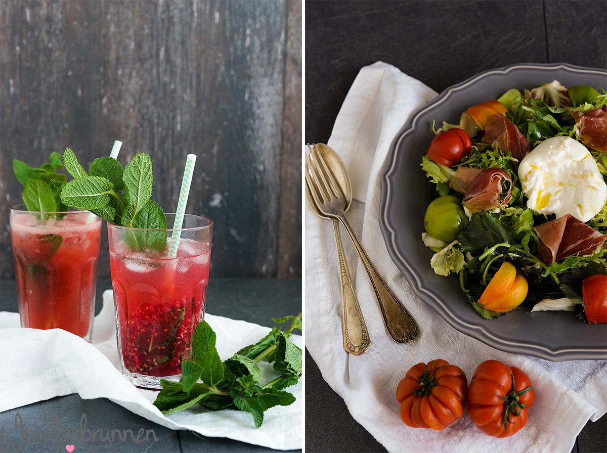 Kleines Foodbloggercamp - Salat mit Burrata - Wunderbrunnen - Foodblog - Fotografie