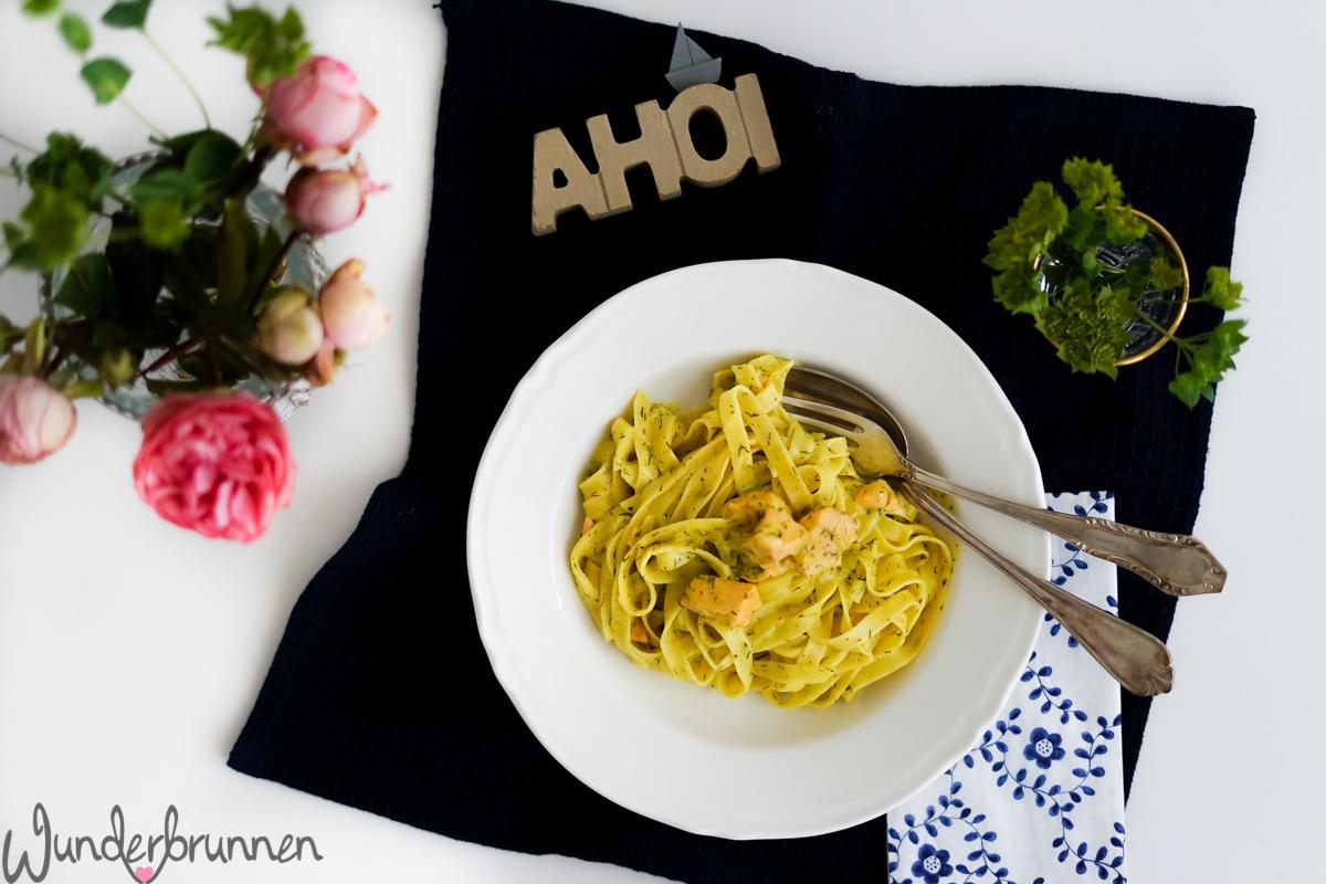 Bandnudeln mit Lachs und Orangensauce - Wunderbrunnen - Foodblog - Fotografie