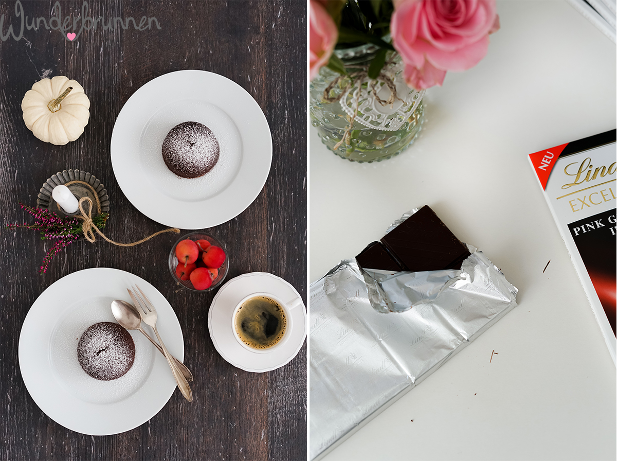Schokoküchlein mit flüssigem Kern- Wunderbrunnen - Foodblog - Fotografie