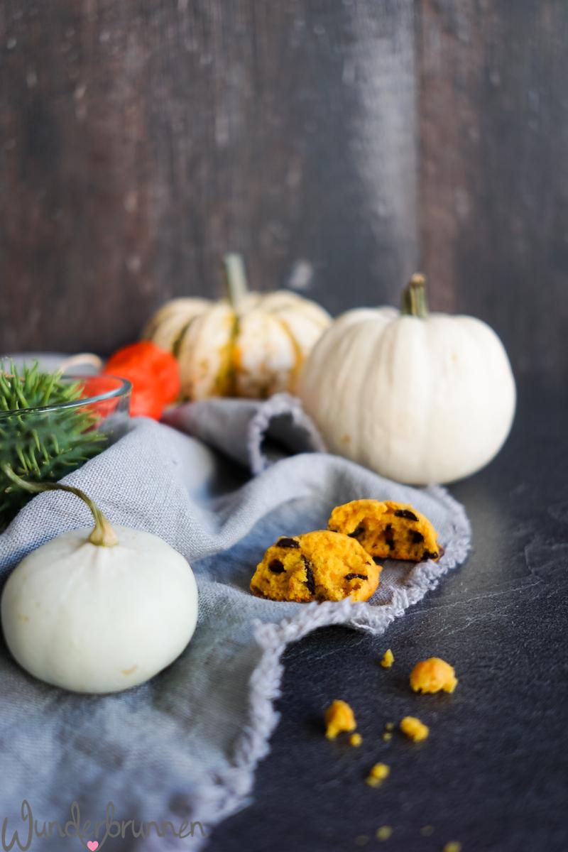 Pumpkin Chocolate Chip Cookies - Wunderbrunnen - Foodblog - Fotografie