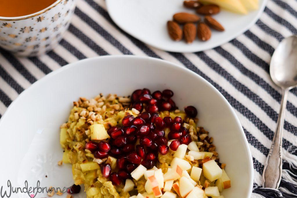Winterliches Porridge - Wunderbrunnen - Foodblog - Fotografie