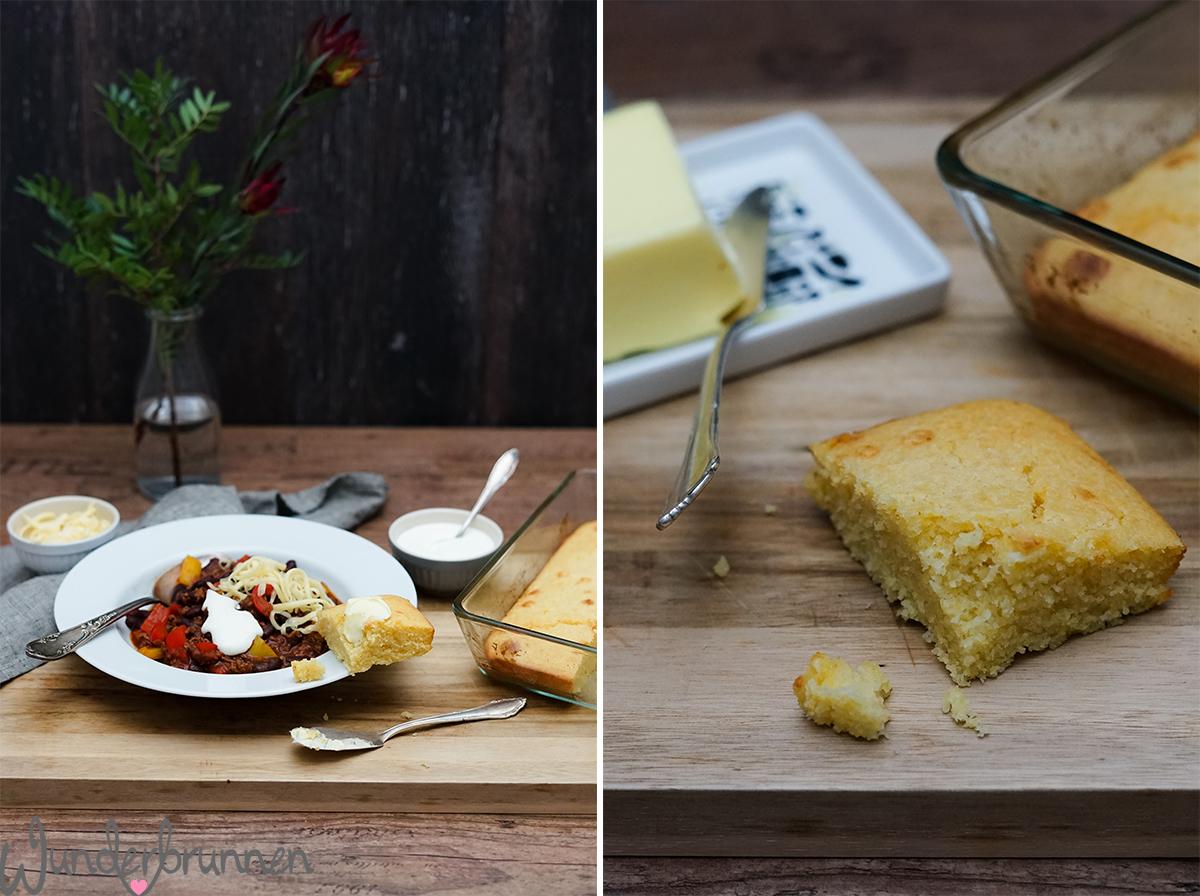 Chili con Carne mit Maisbrot - Wunderbrunnen - Foodblog - Fotografie