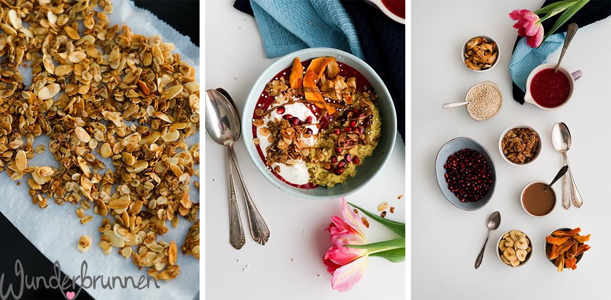 Hafer-Frühstücks-Bowl mit Rhabarber-Kompott - Wunderbrunnen - Foodblog - Fotografie