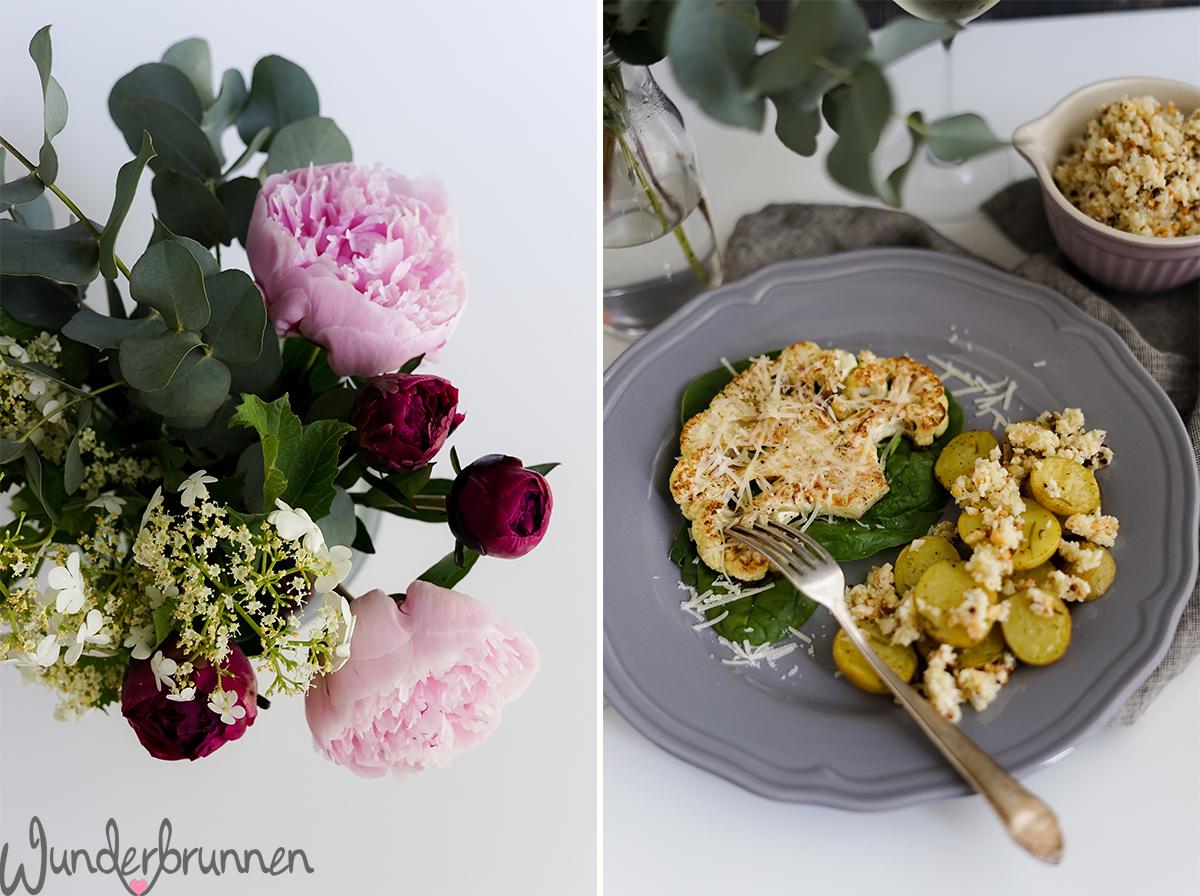 Blumenkohlsteak mit Blumenkohlpesto - Wunderbrunnen - Foodblog - Fotografie