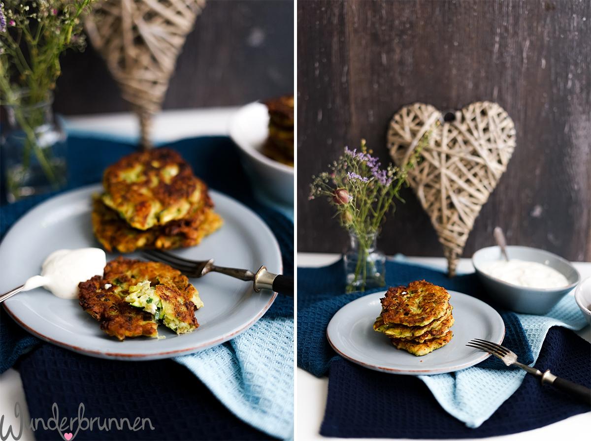 Zucchini-Taler - Wunderbrunnen - Foodblog - Fotografie