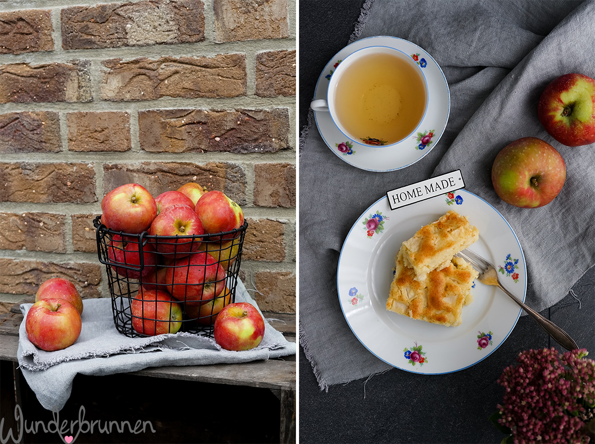 Schneller Apfelkuchen vom Blech - Wunderbrunnen - Foodblog - Fotografie