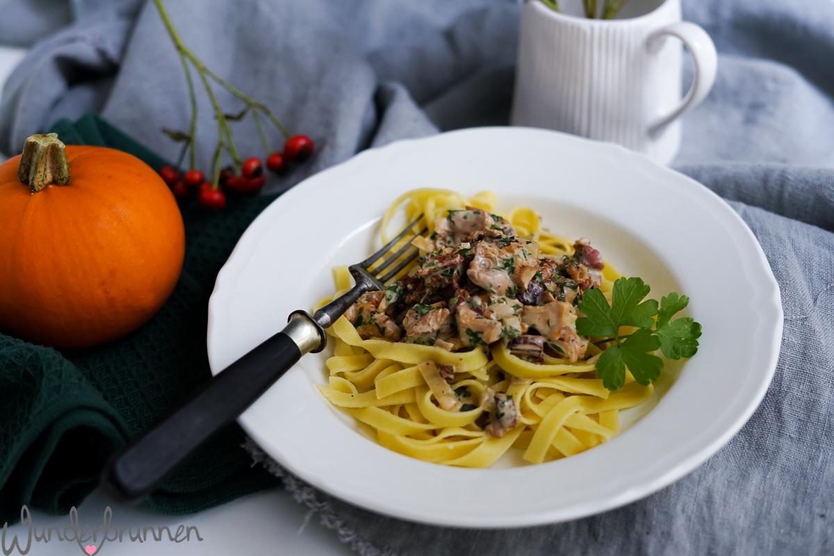 Pfifferlingsnudeln mit Bacon - Wunderbrunnen - Foodblog - Fotografie