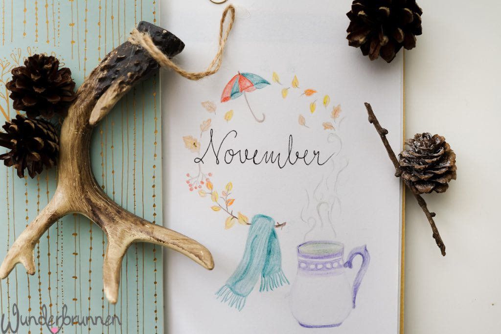 Hallo November und November-Challenges - Wunderbrunnen - Foodblog - Fotografie