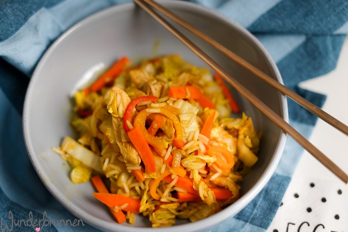 Chinakohl-Gemüse-Pfanne - Wunderbrunnen - Foodblog - Fotografie