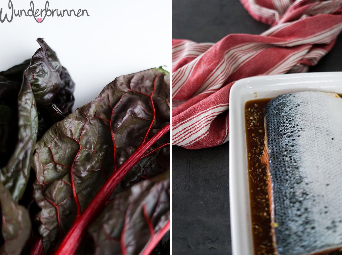 Lachs, roter Mangold und Pastinakenstampf - Wunderbrunnen - Foodblog - Fotografie